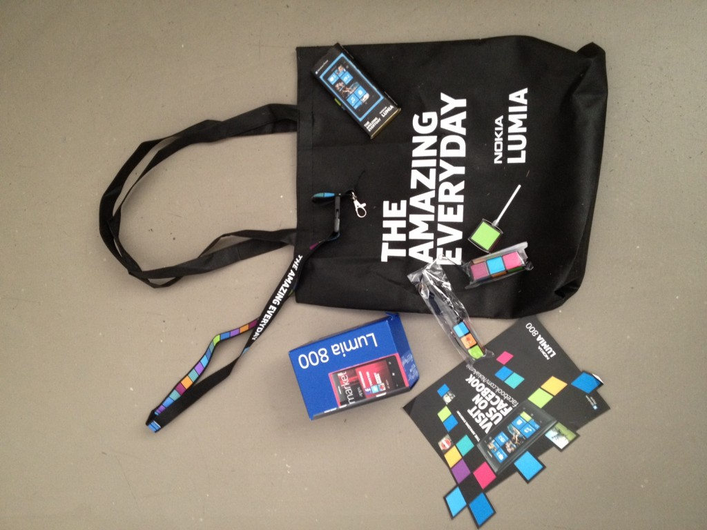 Welcome-Package Nokia Lumia 800